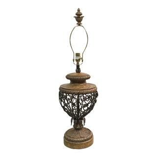 Fine Art Metal Detailed Table Lamp