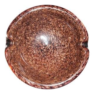 Murano Copper Fleck Bowl