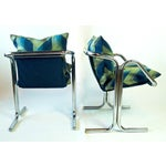 Image of Jerry Johnson Chrome Chairs - A Pair