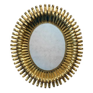 20th Century Italian Gilt Metal Mirror