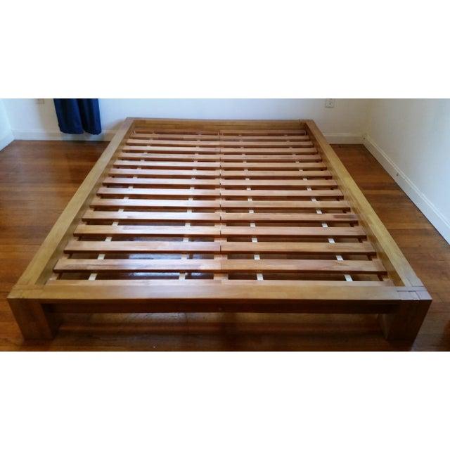 japanese platform bed frame chairish. Black Bedroom Furniture Sets. Home Design Ideas