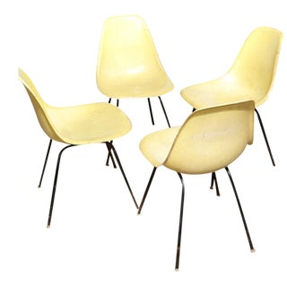 Vintage 1958 Eames Shell Chairs - Set of 4
