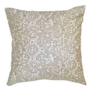 "Grey and White Geometric Print Lacefield Pillow Cover - 22"" X 22"""