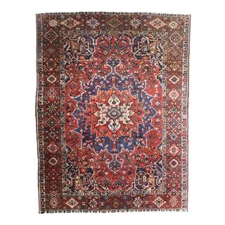 Vintage Hand Knotted Wool Persian Baktiari Rug - 9′ × 12′2″