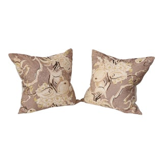 Pair of Silk Cushions
