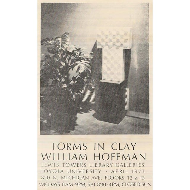 "William A. Hoffman (1920-2011) Two-Piece Clay Sculpture Titled ""Two Crates"" - Image 8 of 9"