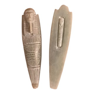 Egyptian Soapstone Sarcophagus Figure
