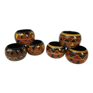 African Inspired Napkin Rings - Set of 6