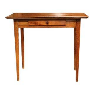 19th Century French Louis Philippe Walnut Side Table with Drawer