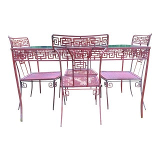 Chinoiserie Outdoor Dining Set