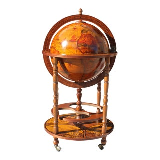 1950s French Art Deco Style Globe Bar
