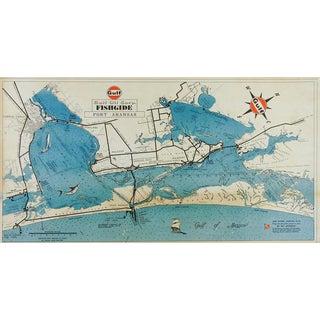 Gulf Oil Fishing Guide Map Port Aransas Texas