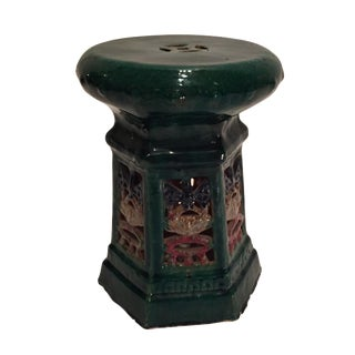 Green Glaze Chinese Garden Stool