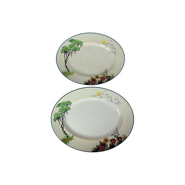 Art Deco English Platters - Pair - Image 1 of 3