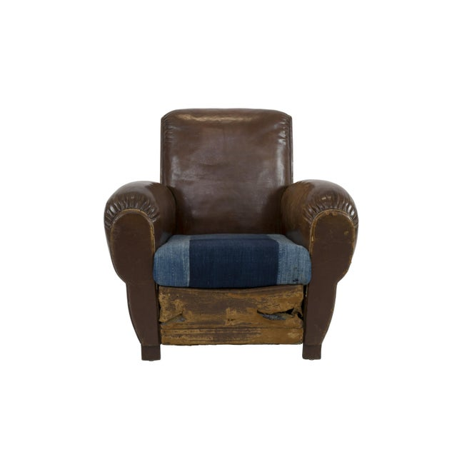 Large 1920's French Leather Club Chairs - Pair - Image 2 of 9