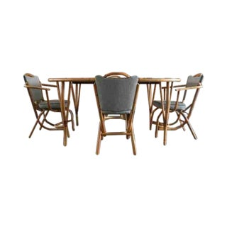 Frankl Style Mid-Century Bamboo Dining Set