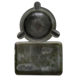 Vintage German Bronze Tray & Ashtray