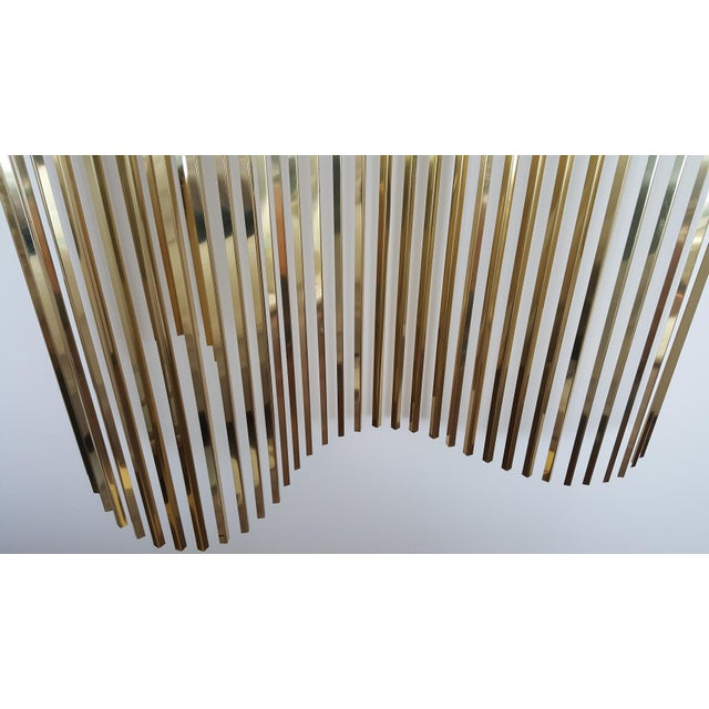 Curtis Jere Kinetic Wave Form Chrome & Brass Wall Sculpture - Image 7 of 11