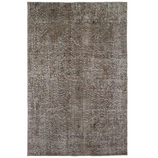 Grey Overdyed Carpet | 4' x 6'1 Rug