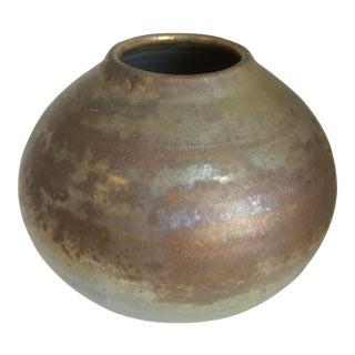 Metallic Glaze Studio Pottery Vase