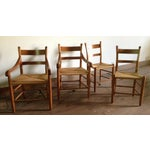 Image of American Dining Chairs With Rush Seats - Set of 4