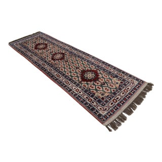 Vintage Turkish Hand Woven Wool Oushak Tribal Rug - 2′11″ × 9′6″
