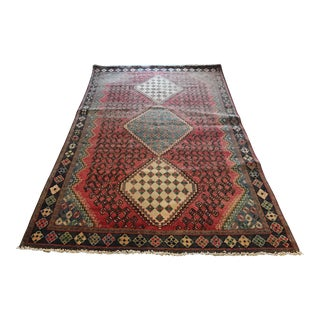 Vintage Persian Shiraz Qashghai Rug - 4'9'x7'10'