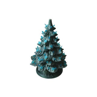 Vintage Light-Up Ceramic Frosted Christmas Tree