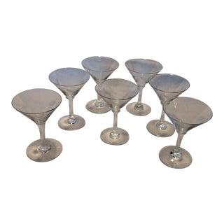 7 Vintage Noritaki Sasaki Wheat Martini Style Aperitif Glasses