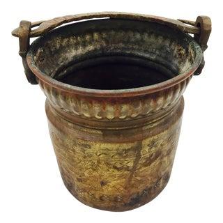 Antique Hammered Copper Bucket