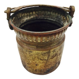 Antique Hammered Copper Bucket