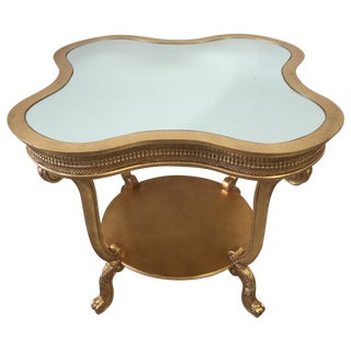 Gold Leaf Entry Table