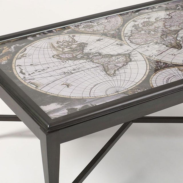 Image of Inset World Map Explorer Coffee Table
