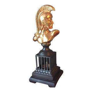 Antique Ceramic Pedestal Gladiator Lamp