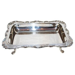 Silver Footed Entree or Meat Platter