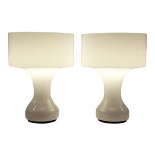 PAIR Sebenica Table Lamps by Enrico Capuzzo for Vistosi , Murano 1960s