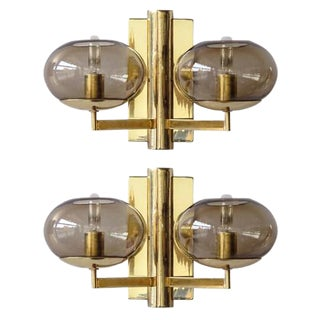 Gaetano Sciolari Double Arm Wall Lights - A Pair
