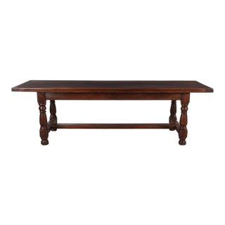 19th Century French Oak Farm Table