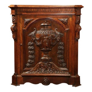 19th C. French Napoleon III Carved Cabinet
