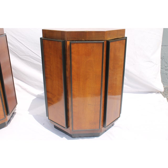Image of Henredon Mid-Century Nightstands or End Tables - A Pair