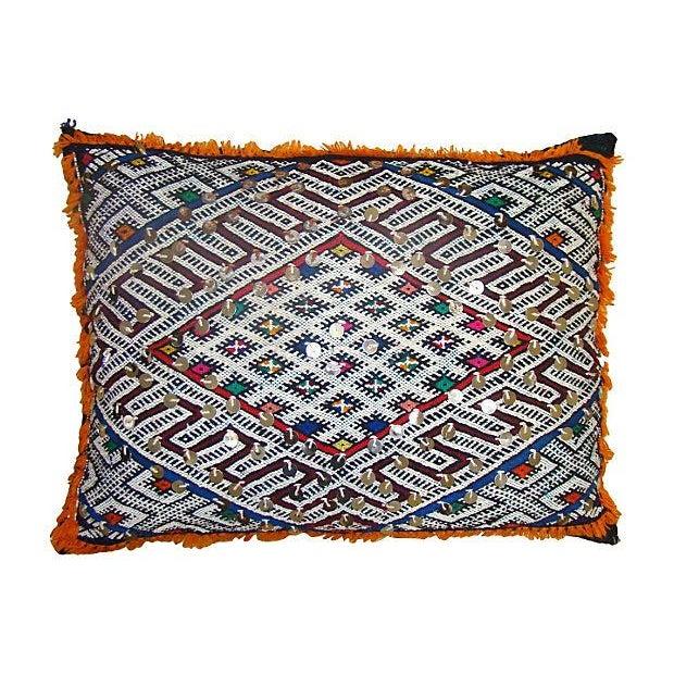 Blue & Orange Moroccan Sham Pillow - Image 1 of 2