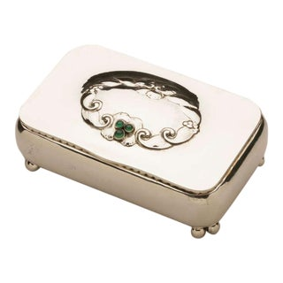 Georg Jensen Rare Keepsake Box No. 83 with Chrysoprase Stones
