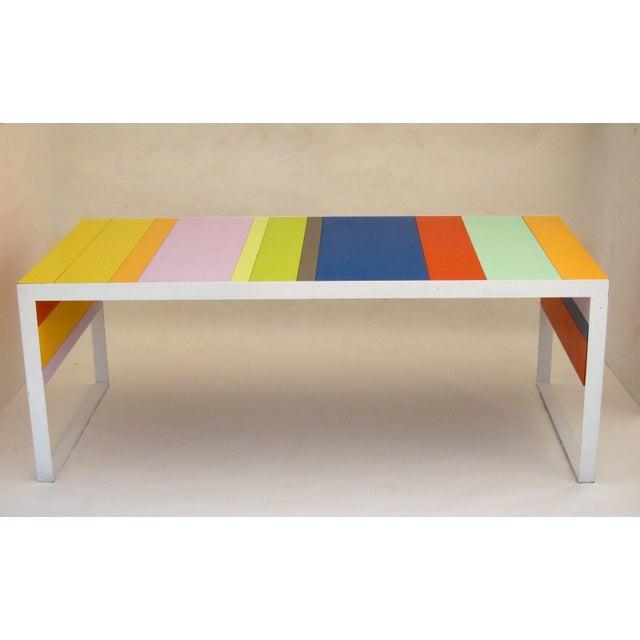 Memphis Modern Style Multi Color Table Desk - Image 3 of 6