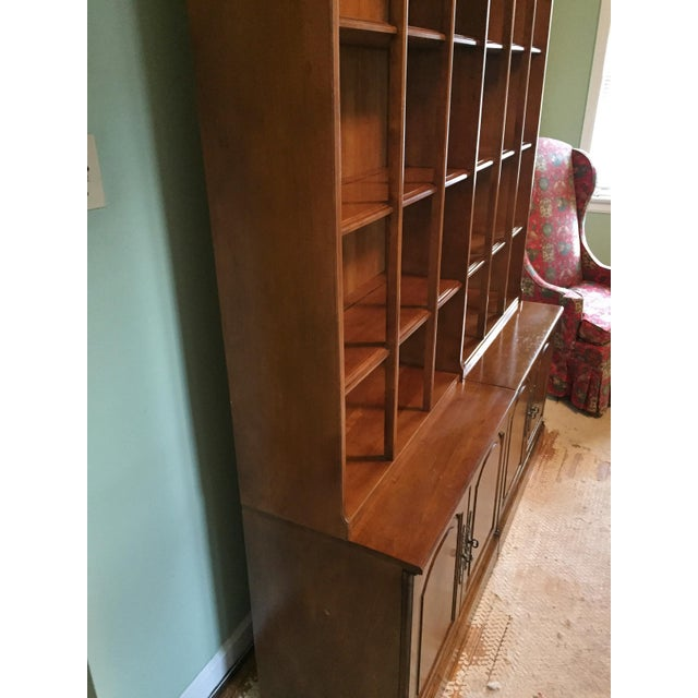 Early American Bookshelves With Storage Cabinets - Set of 3 - Image 6 of 7