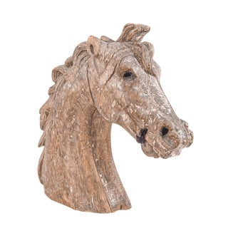 Carved Carousel Horse Head