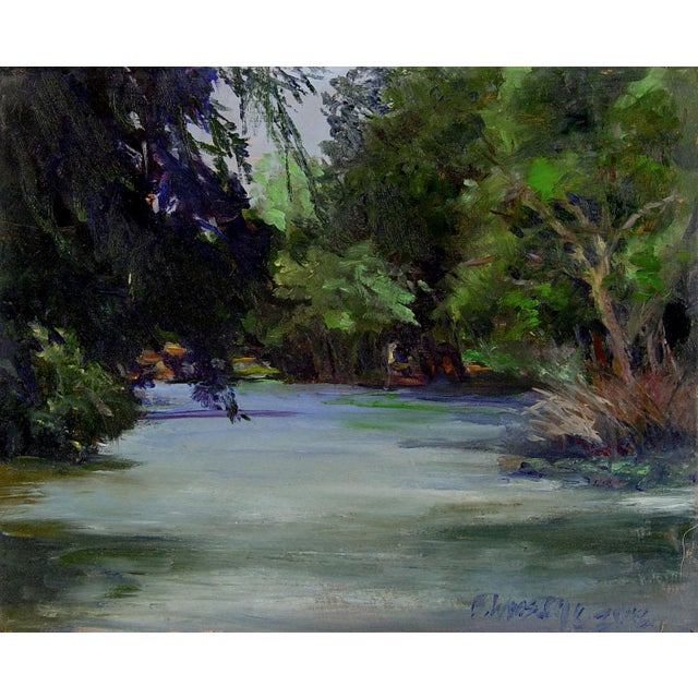 Plein Air River Painting by B. Woosley - Image 1 of 2