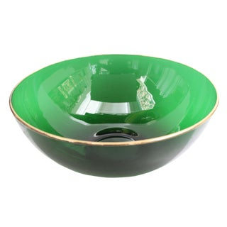 Round Emerald Green Bowl