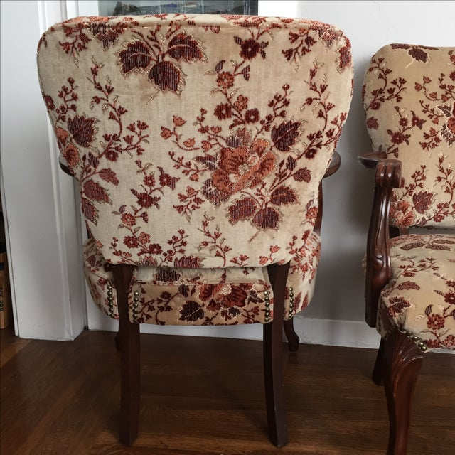 Floral French Provincial Chairs- A Pair - Image 4 of 7