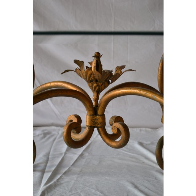 Image of Vintage Italian Gilded Base Cocktail Table