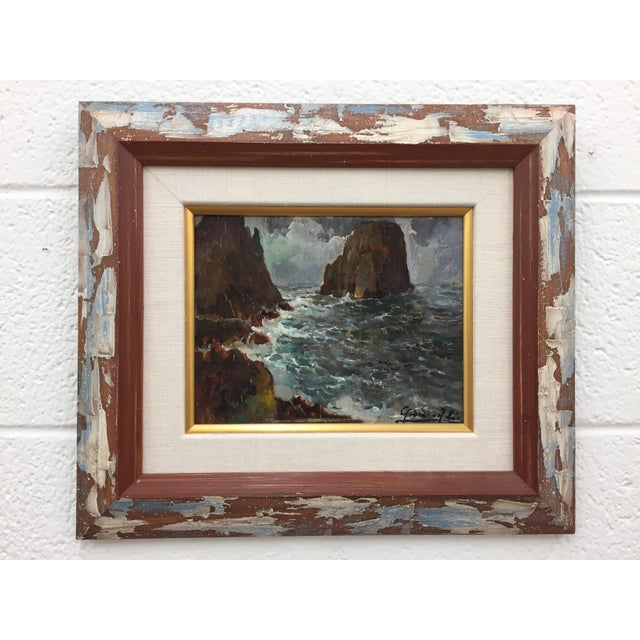 Framed & Signed Seascape Oil Painting - Image 2 of 10